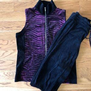 Jones New York Sport velour vest and pants